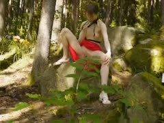 glass-dildo-in-her-girly-hole-in-forest