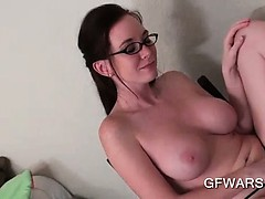 pov-busty-ex-girlfriend-in-glasses-giving-a-hot-tugjob