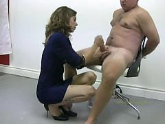 Policewoman Tortures Naked Offender By Masturbating And
