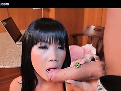 Tranny Asian Enjoys Huge Phallus