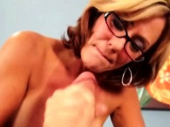 milf-handjob-mature-with-glasses-wanking
