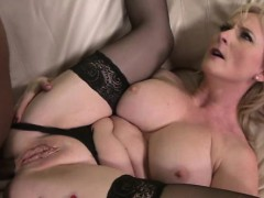 Busty mature in stockings interracial ass drilled
