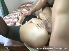 Sexy brunette babe gets anal fucked part4