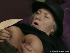 Horny Old Woman Gets Her Cunt Fucked Part2