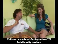 hot-brunette-does-blowjob-and-handjob-for-guy-with-pizza-on-cock