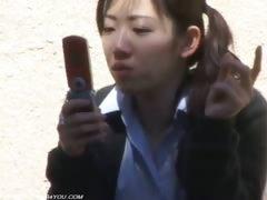 Outdoor Uniform Girl Pubic Hair